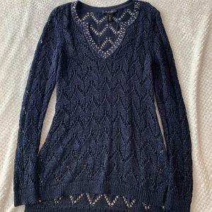 WHBM Tunic V Neck Sweater